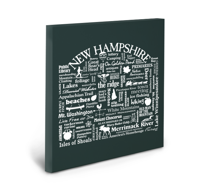 New Hampshire Location (Pepper) Gallery Wrapped Canvas