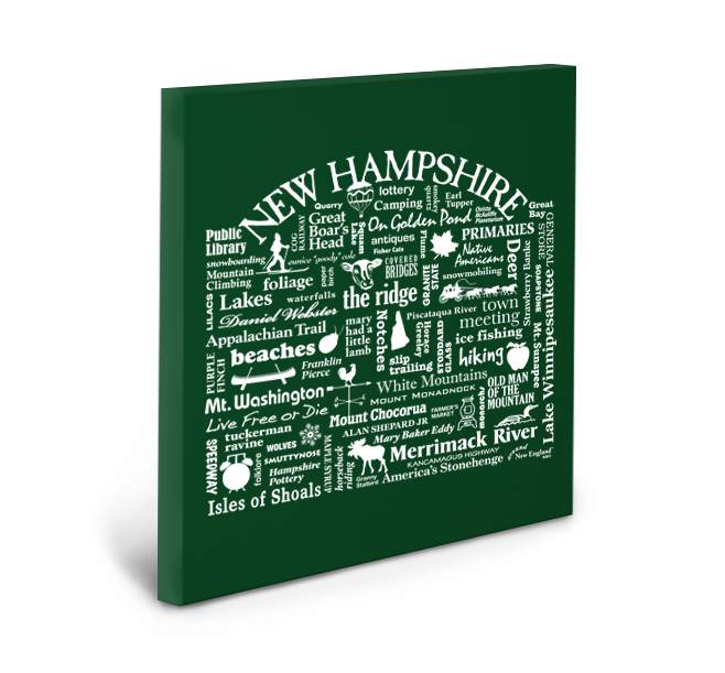 New Hampshire Location (Spruce) Gallery Wrapped Canvas