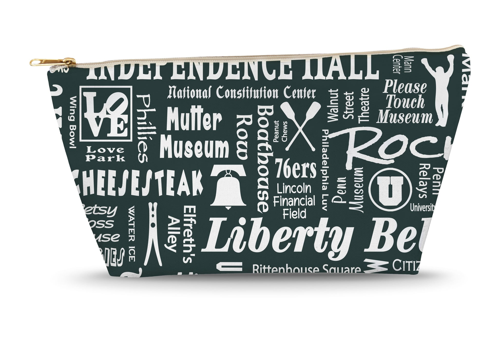 Philadelphia Location (Pepper) Large Accessory Bag