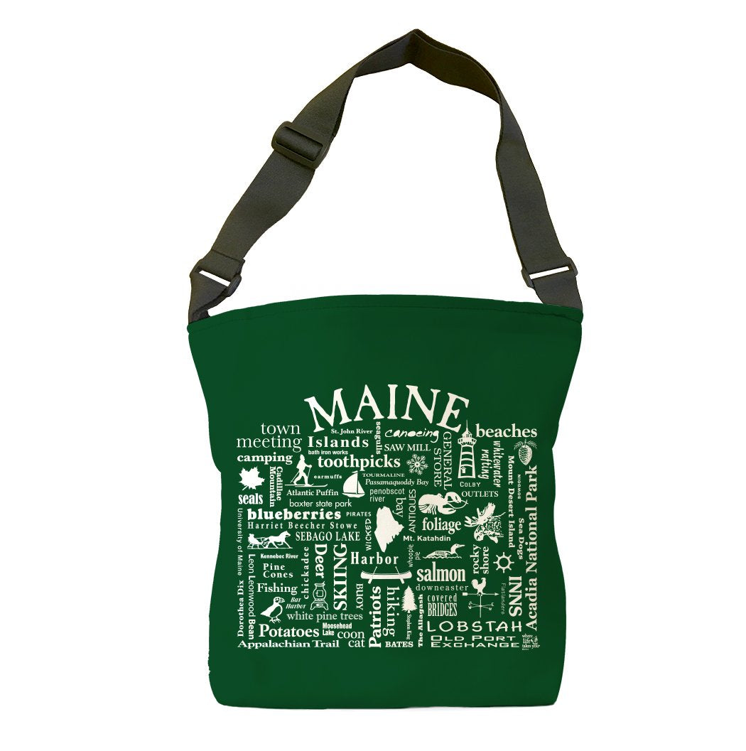 Maine Location (Spruce) Tote Bag