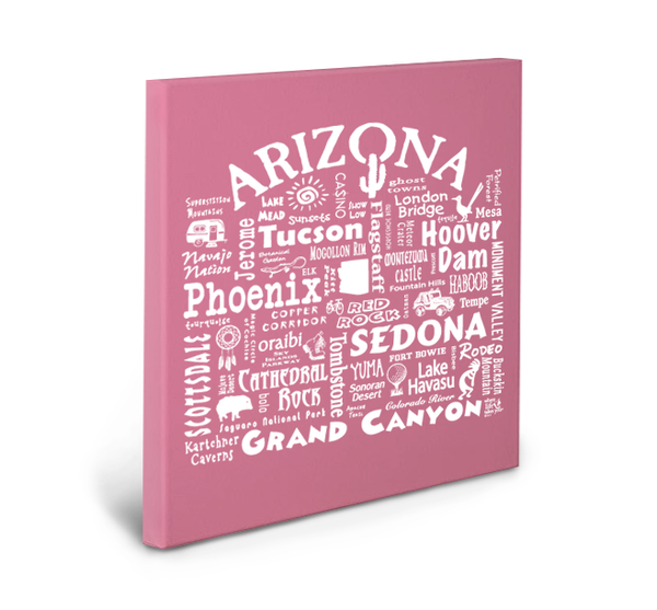 Arizona Location Gallery Wrapped Canvas (Crunchberry)