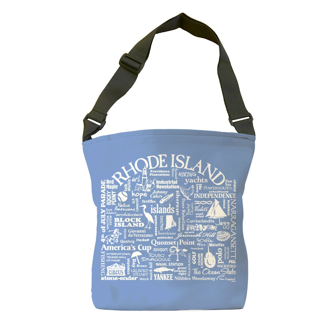 Rhode Island Location (Flo Blue) Tote Bag
