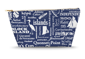 Rhode Island Location (Navy) Large Accessory Bag