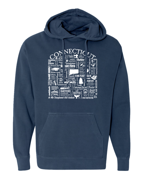 "WLTY ""Connecticut"" Adult Hooded Sweatshirt"