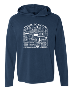 "WLTY ""Connecticut"" Adult Hooded Long Sleeve"