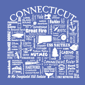 "WLTY ""Connecticut"" Ladies V-Neck T-Shirt"