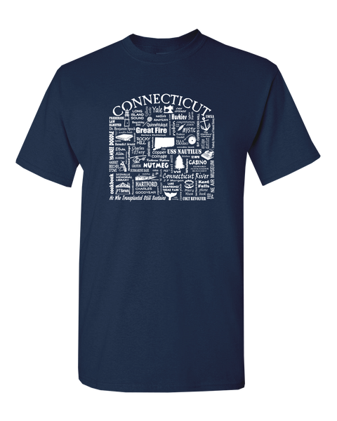 "WLTY ""Connecticut"" Adult Short Sleeve T-Shirt"