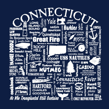 "WLTY ""Connecticut"" Adult Long Sleeve T-Shirt"