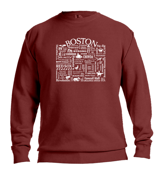 "WLTY ""Boston"" Adult Crewneck Sweatshirt"