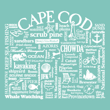 "WLTY ""Cape Cod"" Adult Short Sleeve T-Shirt"