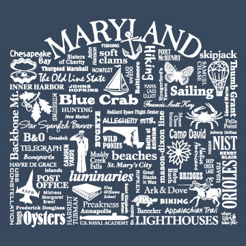 "WLTY ""Maryland"" Adult Hooded Sweatshirt"