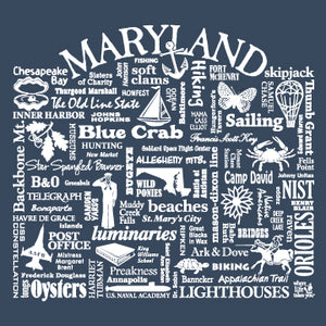 "WLTY ""Maryland"" Adult Long Sleeve T-Shirt"