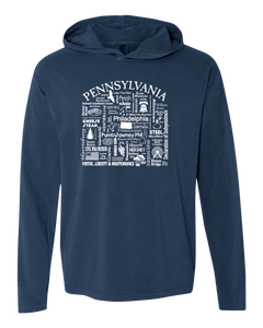 "WLTY ""Pennsylvania"" Adult Hooded Long Sleeve"