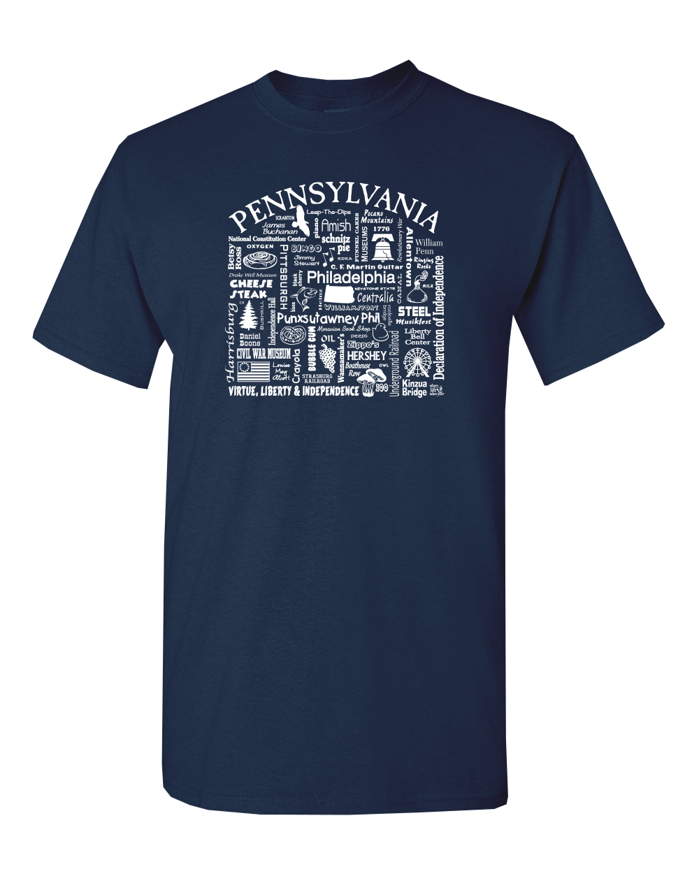 "WLTY ""Pennsylvania"" Adult Short Sleeve T-Shirt"