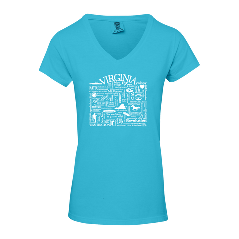 "WLTY ""Virginia"" Ladies V-Neck T-Shirt"