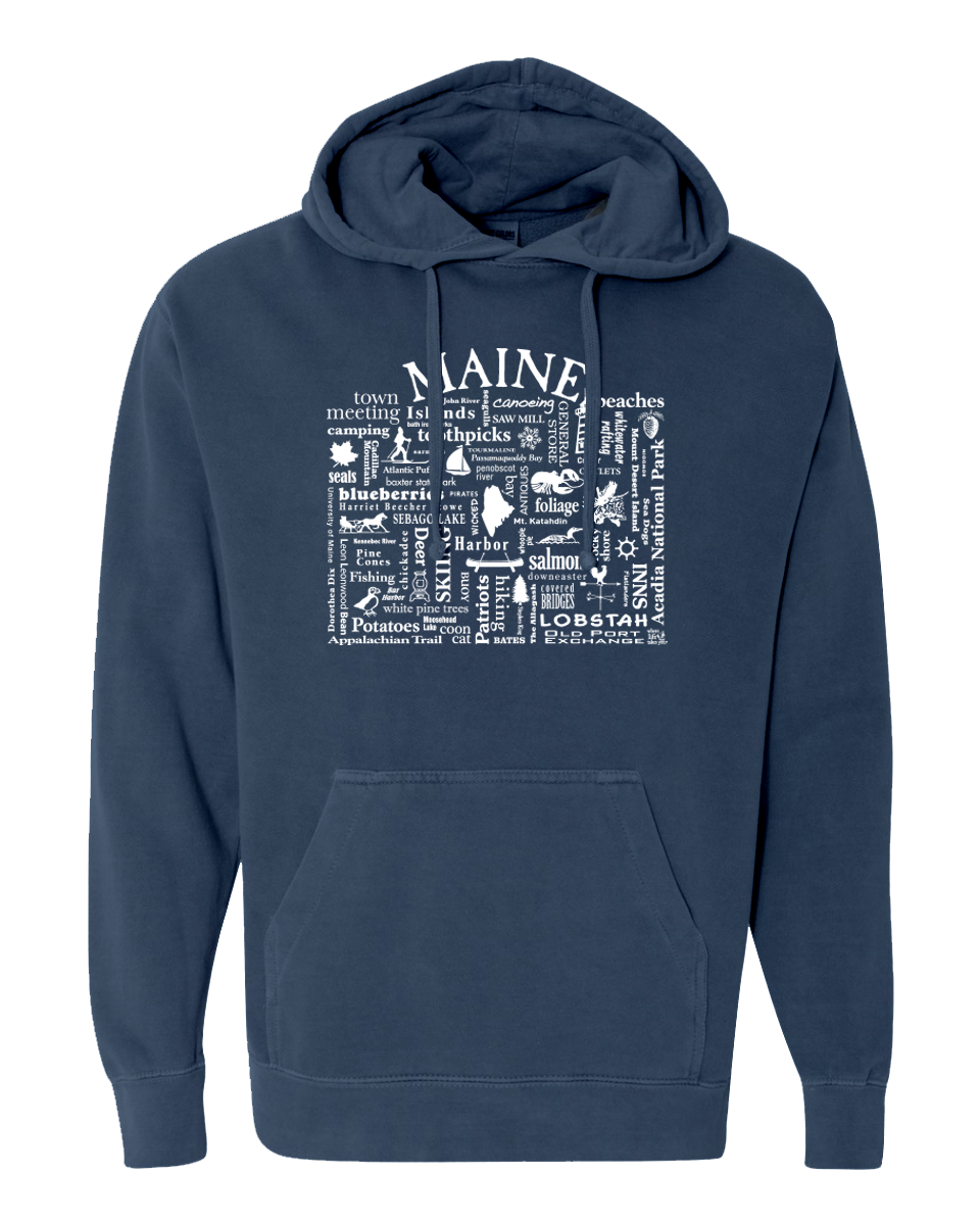 "WLTY ""Maine"" Adult Hooded Sweatshirt"