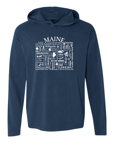 "WLTY ""Maine"" Adult Hooded Long Sleeve"