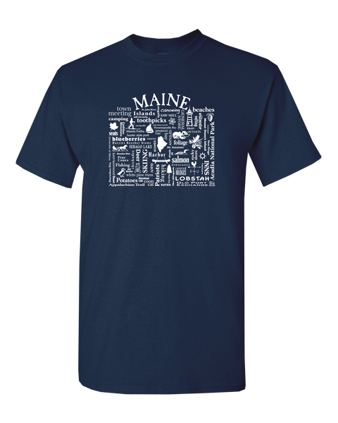 "WLTY ""Maine"" Adult Short Sleeve T-Shirt"