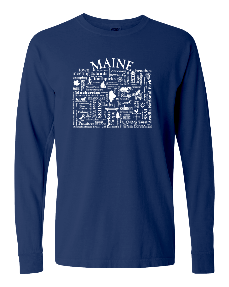 "WLTY ""Maine"" Adult Long Sleeve T-Shirt"