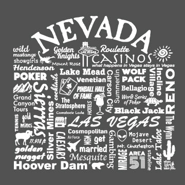"WLTY ""Nevada"" Adult Short Sleeve T-Shirt"