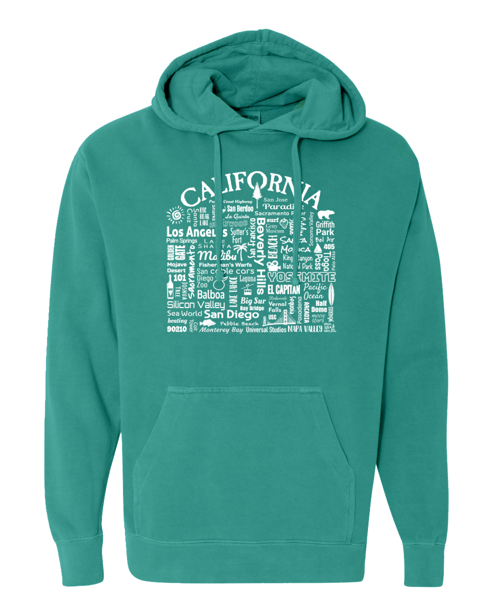 "WLTY ""California"" Adult Hooded Sweatshirt"