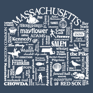 "WLTY ""Massachusetts"" Adult Hooded Long Sleeve"