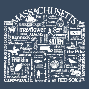 "WLTY ""Massachusetts"" Adult Long Sleeve T-Shirt"