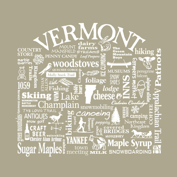 "WLTY Mad River Valley ""Vermont"" Adult Short Sleeve T-Shirt"