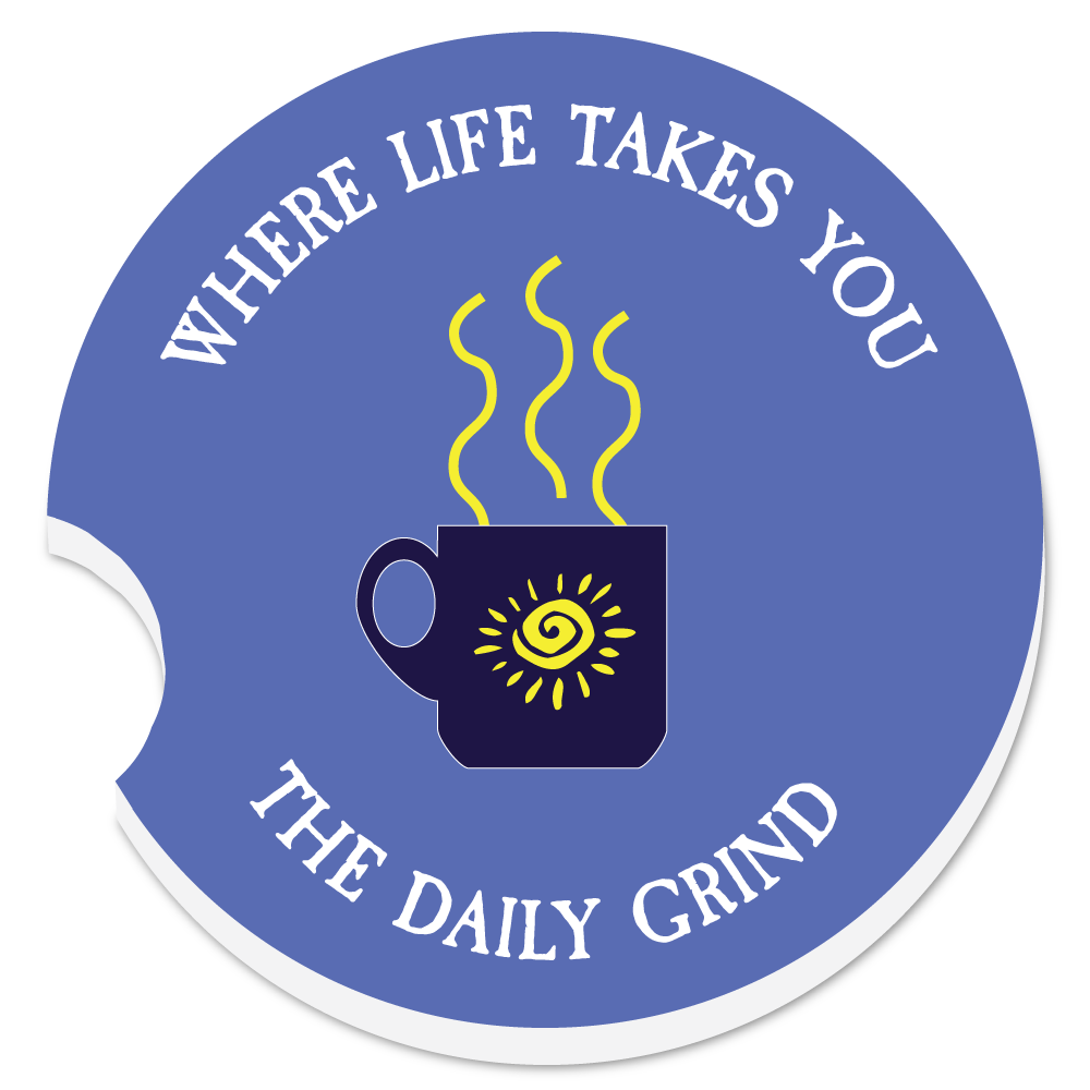 "WLTY Coffee ""The Daily Grind"" Car Coaster"