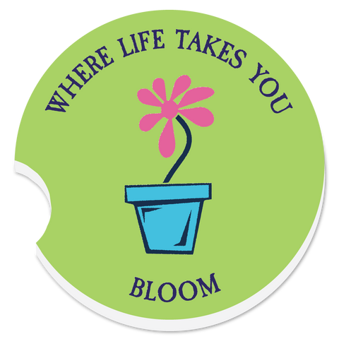 "WLTY Flower ""Bloom"" Car Coaster"