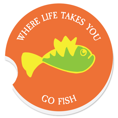 "WLTY Fish ""Go Fish"" Car Coaster"