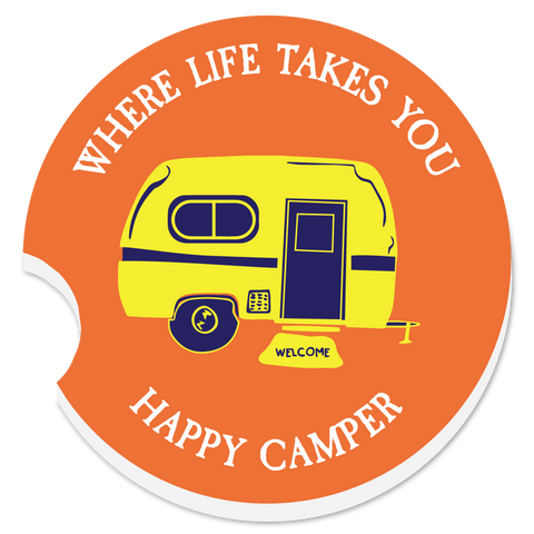 "WLTY RV ""Happy Camper"" Car Coaster"