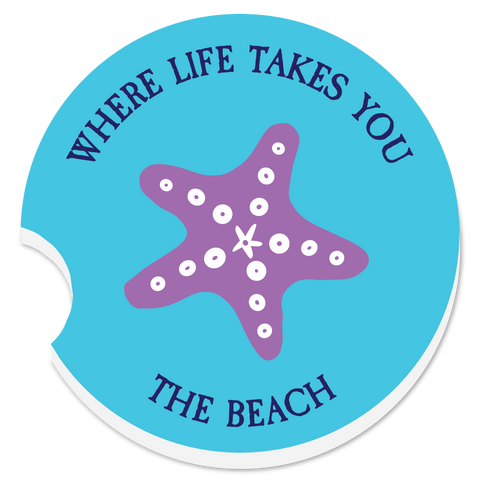 "WLTY Starfish ""The Beach"" Car Coaster"