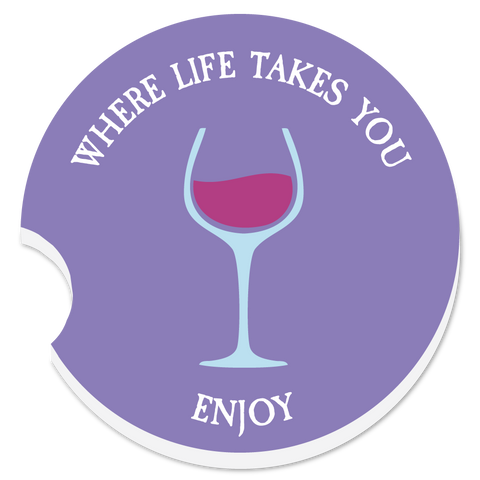 "WLTY Wine ""Enjoy"" Car Coaster"
