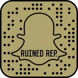 Ruined Rep Snapchat Barcode for Streetwear Pins