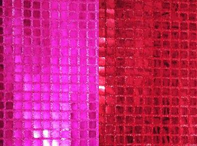 Pink and Red Sequin Fabric