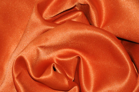 Dark Orange L'amour Satin Fabric