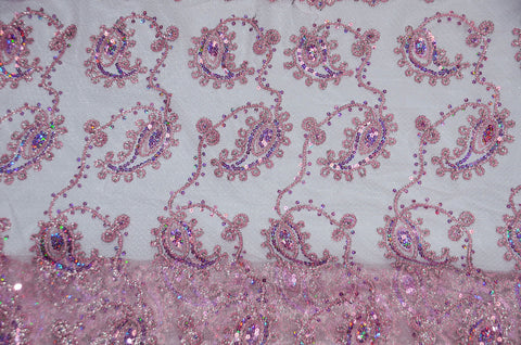 Pink Coco Paisley Fabric