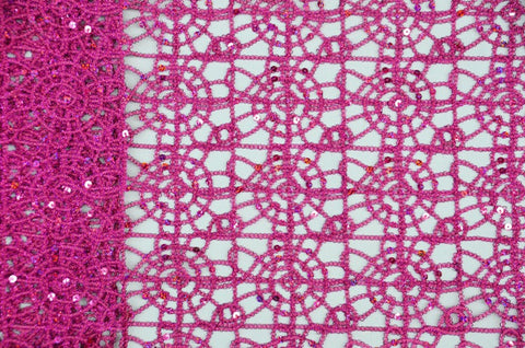 Fuchsia Chemical Lace Fabric