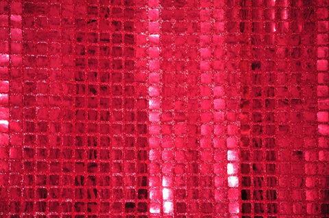Red Quad Sequin Fabric