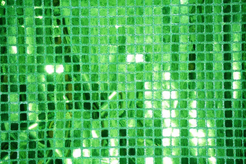 Flag Green Quad Sequin Fabric