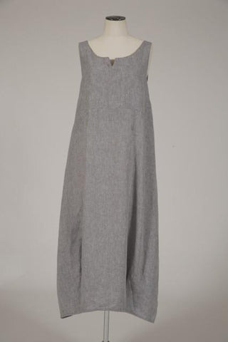 Linen boatneck dress by Hall