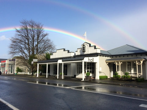 Hall Greytown Main street shop with rainbow