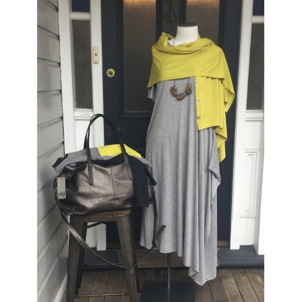 Weekend essentials- Elk bag and dress, NZ made merino wrap