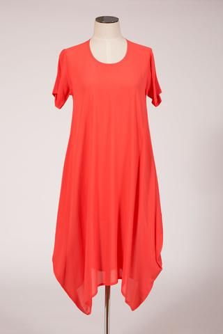 hall garrick dress coral
