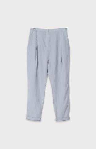 Grey linen drop crotch trousers  Elk shopping in Greytown or online at Hall New Zealand