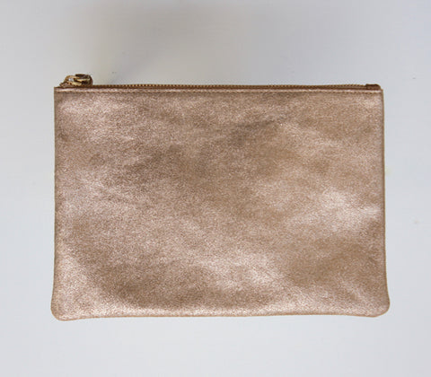 stella and gemma gold leather pouch