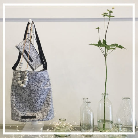 Elk Holte bag, Holte wallet, and recycled glassware at Hall Greytown fashion boutique shop