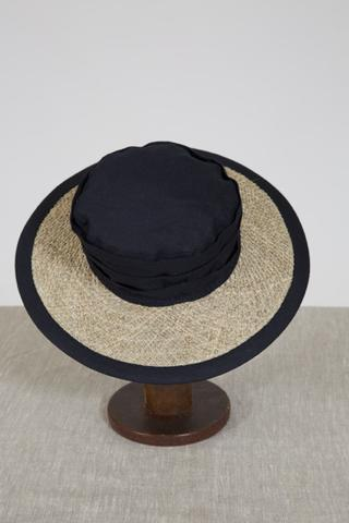 seagrass and linen sun hat navy