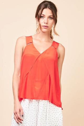 mesop red singlet top